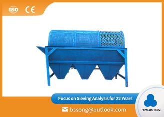 Compact Structure Electric Trommel Screen Silica Sand Drum Separator